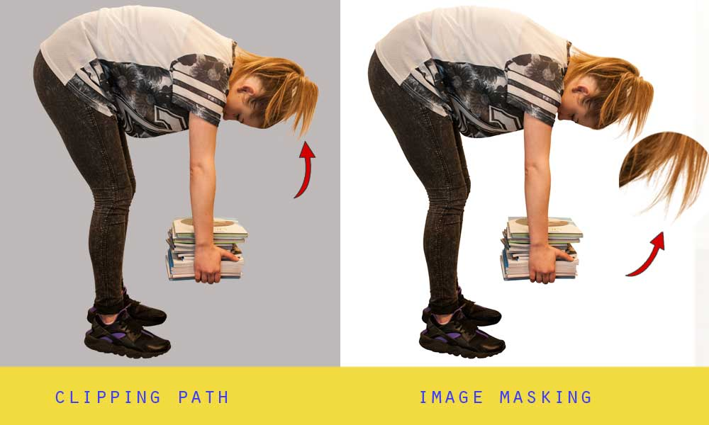 difference clipping path image masking