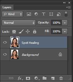Spot-healing-layer