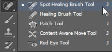 Spot healing tool